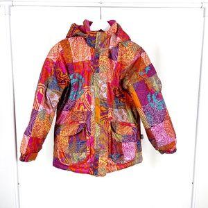 Deux par Deux Girl's Multicolour Ski Jacket